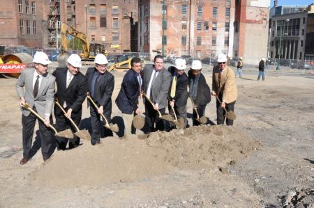 Ground Breaking for Utica's Multi-Modal Center image