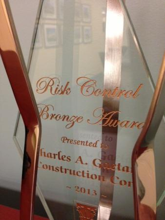 Gaetano Receives GCI Risk Control Award image