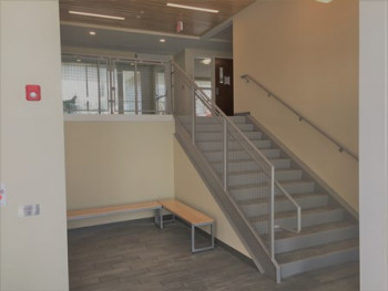West Street Apartments - Front Lobby Stairway