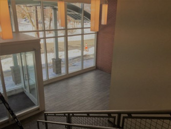 West Street Apartments - Front Lobby from Stairway